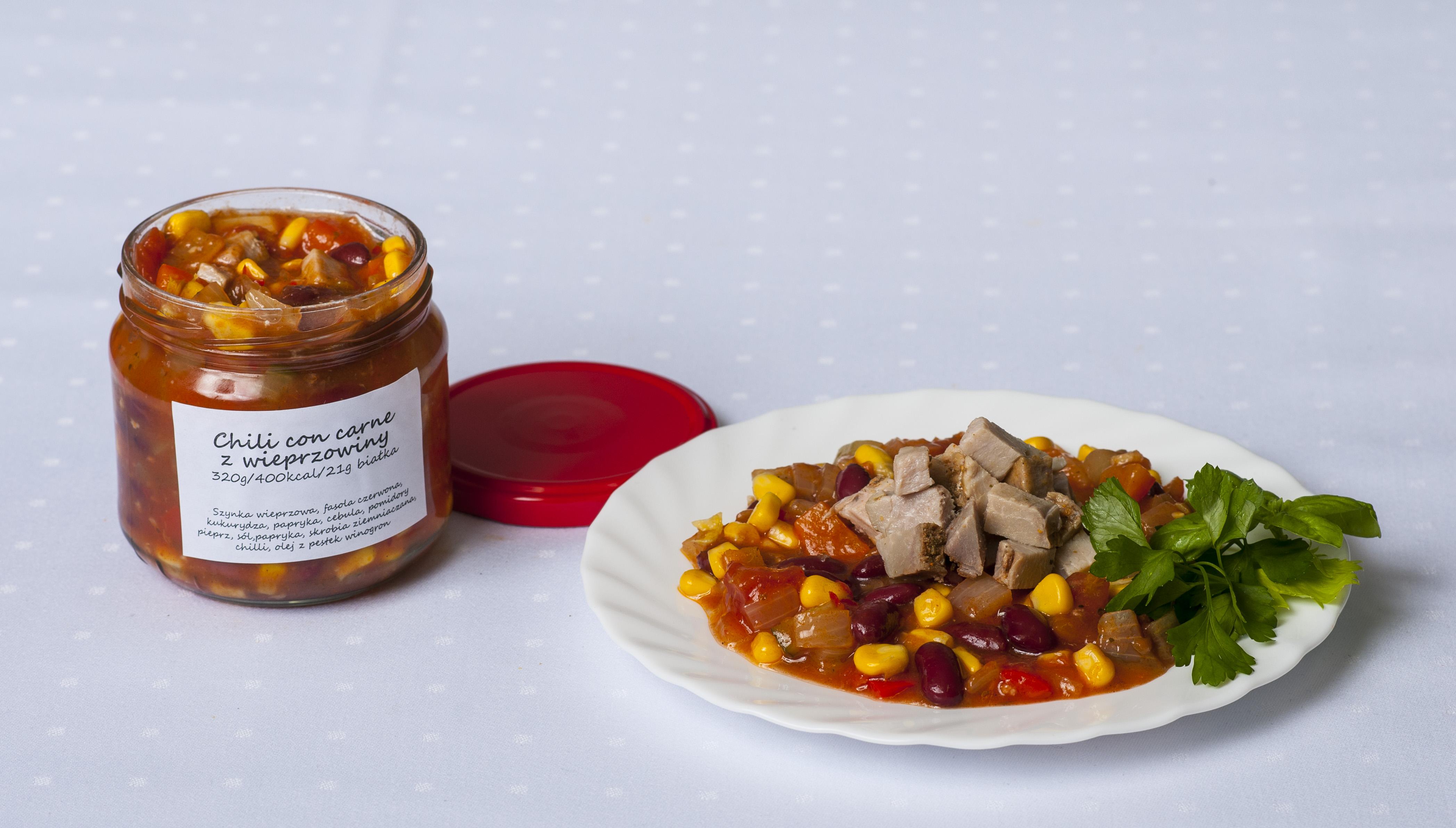 Chili con carne z wieprzowiny