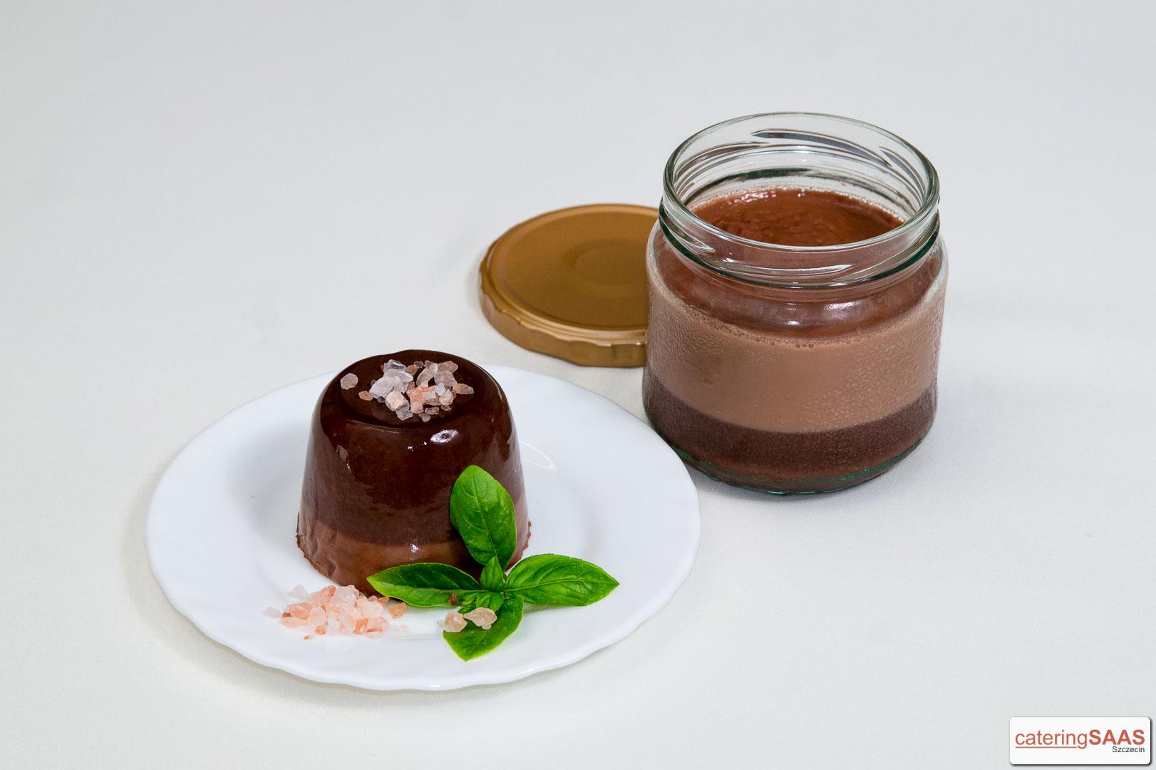Saas czekoladowy z solą